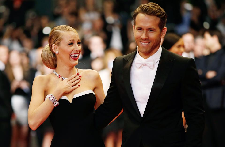 """<p><a href=""""https://www.elle.com/uk/life-and-culture/a29140938/blake-lively-trolls-ryan-reynolds/"""" rel=""""nofollow noopener"""" target=""""_blank"""" data-ylk=""""slk:Blake Lively"""" class=""""link rapid-noclick-resp"""">Blake Lively</a> and <a href=""""https://www.elle.com/uk/life-and-culture/a28717472/ryan-reynolds-blake-lively-greatest-present/"""" rel=""""nofollow noopener"""" target=""""_blank"""" data-ylk=""""slk:Ryan Reynolds"""" class=""""link rapid-noclick-resp"""">Ryan Reynolds</a> are one of Hollywood's most popular couples for a number of reasons.</p><p><a href=""""https://www.elle.com/uk/life-and-culture/g28167561/blake-lively-ryan-reynolds-pictures/"""" rel=""""nofollow noopener"""" target=""""_blank"""" data-ylk=""""slk:They look insanely good on the red carpet"""" class=""""link rapid-noclick-resp"""">They look insanely good on the red carpet</a>, are frequently photographed on <a href=""""https://www.elle.com/uk/life-and-culture/a28128701/blake-lively-pregnancy-picture-ryan-reynolds/"""" rel=""""nofollow noopener"""" target=""""_blank"""" data-ylk=""""slk:adorable family walks looking very happy"""" class=""""link rapid-noclick-resp"""">adorable family walks looking very happy</a> and in love, are <a href=""""https://www.elle.com/uk/life-and-culture/a29495999/blake-lively-baby-registry/"""" rel=""""nofollow noopener"""" target=""""_blank"""" data-ylk=""""slk:proud parents to three daughters"""" class=""""link rapid-noclick-resp"""">proud parents to three daughters</a>, publicly support each other's projects and, in spite of their A-List status, are unafraid to mercilessly troll each other on social media.</p><p>Not a month goes by without one or the other mocking their spouse, be it by using an almost (they are, Blake and Ryan, after all) unflattering photo of each other as birthday tributes, Lively tagging the wrong famous Ryan in an Instagram tribute or teasing one another for promoting their respective business ventures on social media.</p><p> Whatever the scenario, we love to see a celebrity couple unafraid to laugh at themselves and not take each other too seriously, just as much as """