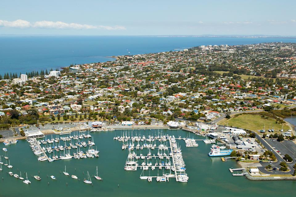 Aerial view of Redcliffe, Australia