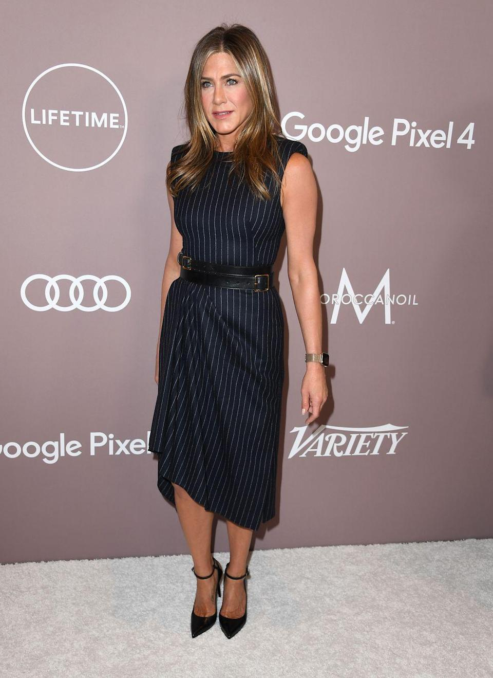 """<p>Aniston didn't love using a jump rope when Azubuike first tried her out on it because she thought it was challenging, her trainer told Women's Health. But she kept at it. """"I just made her keep on doing it, and now she's great at it,"""" he said.</p>"""