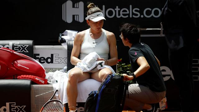 World number one Simona Halep appeared hampered by injury in Rome, but she insists there is no lasting issue ahead of the French Open.