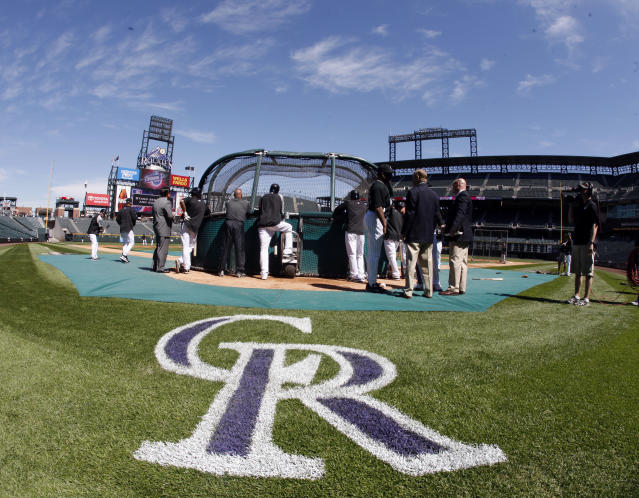 Jenny Cavnar performed play-by-play for the Rockies in 2018. (AP Photo/David Zalubowski)
