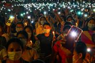 Pro-democracy posters and the three-fingered salute associated with anti-military rallies have appeared frequently in Tinder profiles after Myanmar's generals restored access to the dating app last month