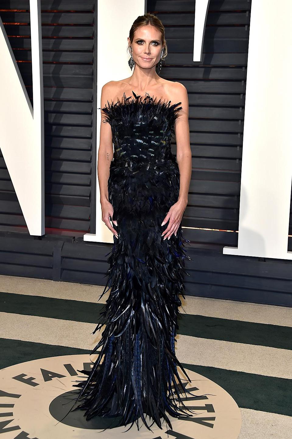 <p>Heidi Klum attends the 2017 Vanity Fair Oscar Party hosted by Graydon Carter at Wallis Annenberg Center for the Performing Arts on February 26, 2017 in Beverly Hills, California. (Photo by Pascal Le Segretain/Getty Images) </p>