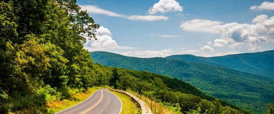 The view from Skyline Drive in Shenandoah National Park