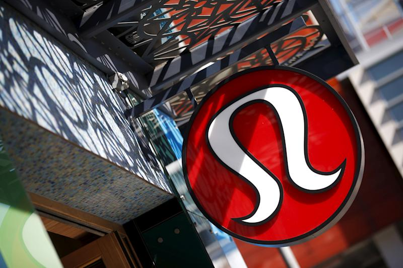 A Lululemon store logo is pictured on a store in Santa Monica, California, United States, April 12, 2016. REUTERS/Lucy Nicholson