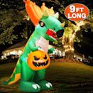 <p>Set the scene with these <span>Halloween Inflatable Dinosaur </span> ($58).</p>