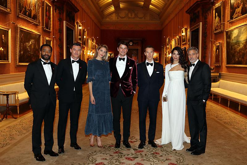 Chiwetel Ejiofor, Luke Evans, Tamsin Egerton, Josh Hartnett, Benedict Cumberbatch, Amal Clooney and George Clooney at The Prince's Trust dinner, which was hosted by Prince Charles, Prince of Wales.