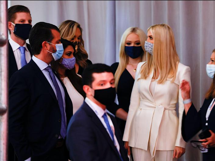 <p>Children of former US president Donald Trump, with security</p> (REUTERS)