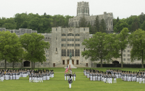 """<p><strong>Established in 1802</strong></p><p><strong>Location: Orange County, New York</strong></p><p>The oldest continuously occupied military post in America, <a href=""""https://www.westpoint.edu/about/history-of-west-point"""" rel=""""nofollow noopener"""" target=""""_blank"""" data-ylk=""""slk:West Point"""" class=""""link rapid-noclick-resp"""">West Point</a> dates back to the Revolutionary War, when both sides realized they needed a commanding spot on the west bank of the Hudson River. General George Washington once thought of West Point as the most important strategic position in America. Thaddeus Kosciuszko was picked to design the fortifications in 1778, and soldiers built forts, batteries, and more. </p>"""