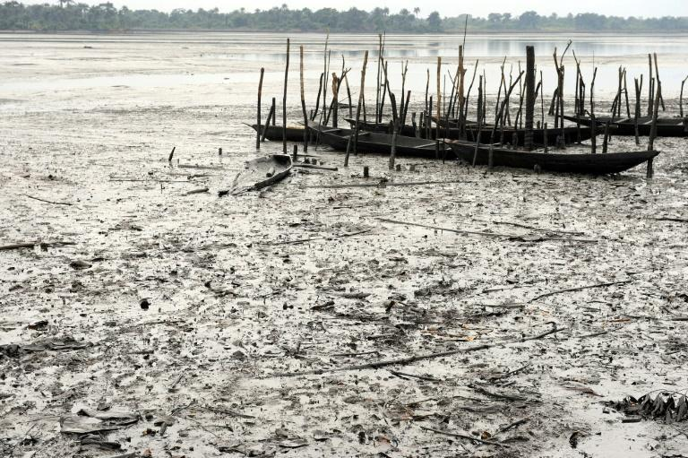 File picture from 2011 of abandoned fishing boats in Ogoniland. The waterways had been badly polluted by crude oil, allegedly spilt by a Shell equipment failure in 2008 and 2009