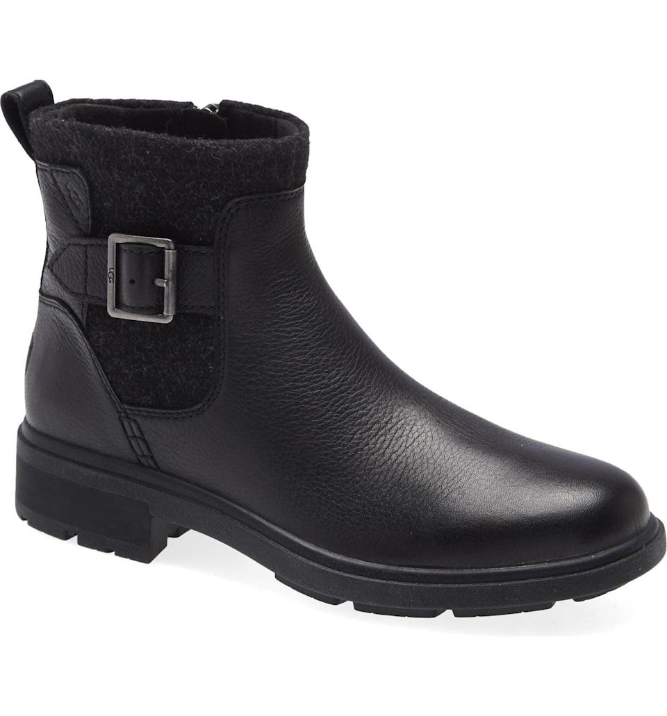 <p>This <span>UGG Harrison Waterproof Chelsea Boot</span> ($160) is a great neutral boot. It's something you can throw on when you want to be comfortable and the forecast says to prepare for rain.</p>