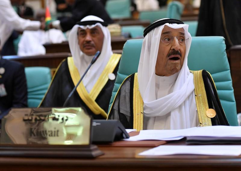 FILE PHOTO: Kuwaiti Emir Sheikh Sabah al-Ahmad al-Jaber al-Sabah attends the 14th Islamic summit of the Organisation of Islamic Cooperation (OIC) in Mecca