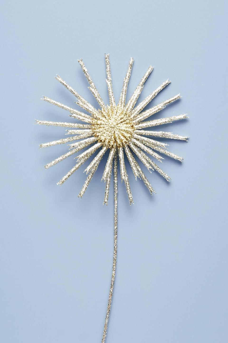 """<p>Make your tree look like royalty with the glittery <a href=""""https://www.popsugar.com/buy/Royal-Starburst-Tree-Topper-490578?p_name=Royal%20Starburst%20Tree%20Topper&retailer=anthropologie.com&pid=490578&price=28&evar1=casa%3Aus&evar9=46615300&evar98=https%3A%2F%2Fwww.popsugar.com%2Fhome%2Fphoto-gallery%2F46615300%2Fimage%2F46615449%2FRoyal-Starburst-Tree-Topper&list1=shopping%2Canthropologie%2Choliday%2Cchristmas%2Cchristmas%20decorations%2Choliday%20decor%2Chome%20shopping&prop13=mobile&pdata=1"""" rel=""""nofollow noopener"""" class=""""link rapid-noclick-resp"""" target=""""_blank"""" data-ylk=""""slk:Royal Starburst Tree Topper"""">Royal Starburst Tree Topper</a> ($28).</p>"""