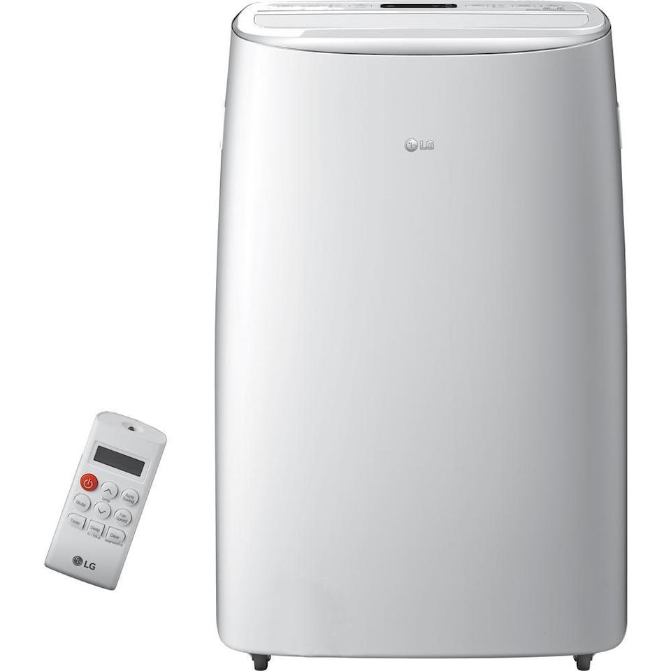 """<p><strong>LG Electronics</strong></p><p>homedepot.com</p><p><strong>$699.00</strong></p><p><a href=""""https://go.redirectingat.com?id=74968X1596630&url=https%3A%2F%2Fwww.homedepot.com%2Fp%2FLG-Electronics-14-000-BTU-10-000-BTU-DOE-Portable-Air-Conditioner-Dual-Inverter-Quiet-Energy-Eff-Wi-Fi-with-LCD-Remote-in-White-LP1419IVSM%2F307296364&sref=https%3A%2F%2Fwww.womansday.com%2Fhome%2Fg32828147%2Fbest-portable-air-conditioners%2F"""" rel=""""nofollow noopener"""" target=""""_blank"""" data-ylk=""""slk:Shop Now"""" class=""""link rapid-noclick-resp"""">Shop Now</a></p><p>If you're looking to splurge, this top-of-the-line LG air conditioner offers powerful and energy efficient cooling. It's also a connected device that can sync up to your Alexa or Google Home.</p>"""