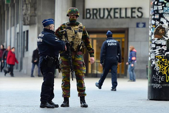 Belgium has been on high alert since suicide bombers struck Brussels airport and a metro station near the European Union headquarters on March 22, killing 32 people (AFP Photo/Emmanuel Dunand)