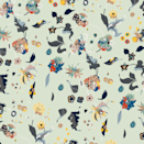 """Mitchell Black's exclusive (and extensive) collection of wallpaper and wall murals is custom-printed, designed in Chicago, and ranges from floral patterns like this one, set on a creamy mint green, to picturesque scenes with divers, tigers, beach umbrellas, and more. $59, Mitchell Black. <a href=""""https://mitchellblack.com/collections/shop-wallpaper-by-style/products/floral-bliss-mixed"""" rel=""""nofollow noopener"""" target=""""_blank"""" data-ylk=""""slk:Get it now!"""" class=""""link rapid-noclick-resp"""">Get it now!</a>"""