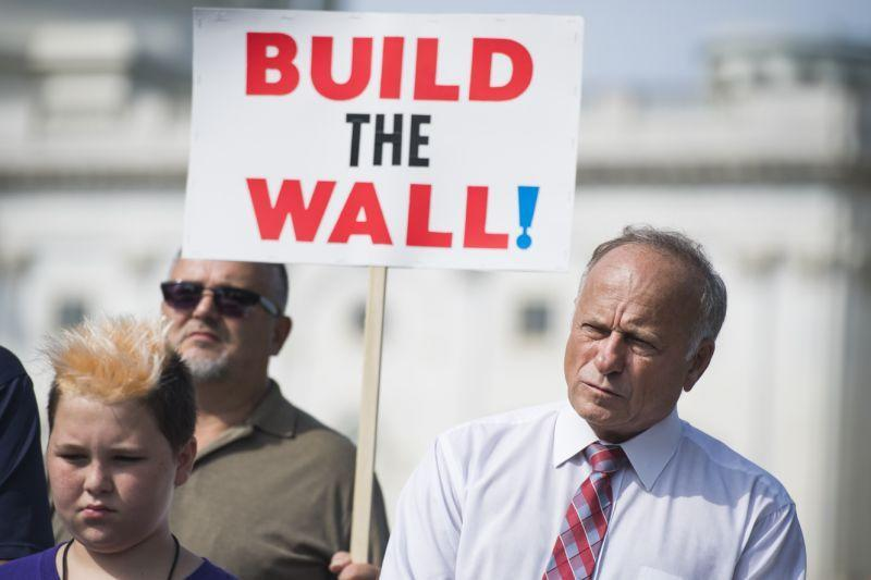 Rep. Steve King, R-Iowa, attends a rally with Angel Families on Sept. 7, 2018, at the Capitol to highlight crimes committed by illegal immigrants in the U.S. (Photo: Tom Williams/CQ Roll Call/Getty Images)