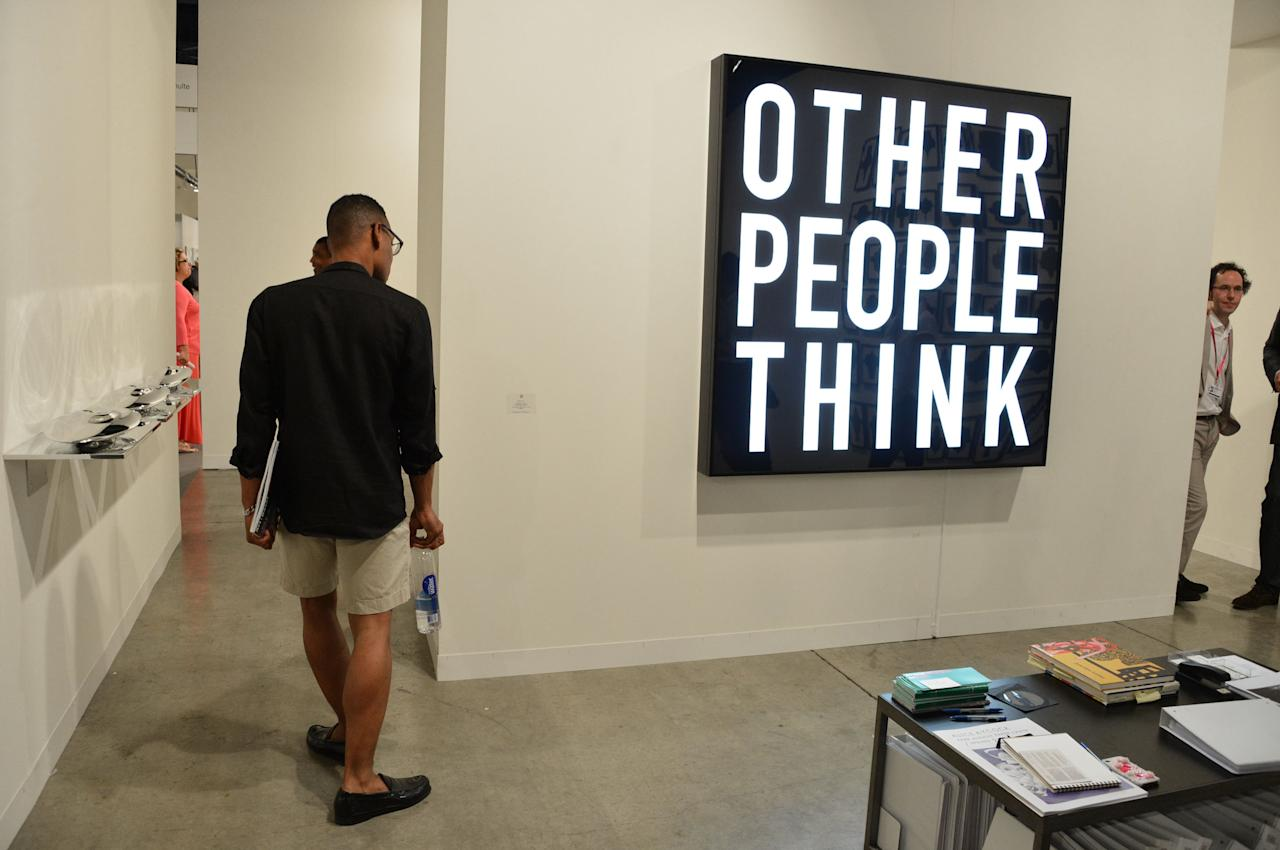 MIAMI BEACH, FL - DECEMBER 08:  A general view of Galerie Thomas Schulte during Art Basel Miami Beach 2012 at the Miami Beach Convention Center on December 8, 2012 in Miami Beach, Florida.  (Photo by Mike Coppola/Getty Images for Art Basel Miami 2012)