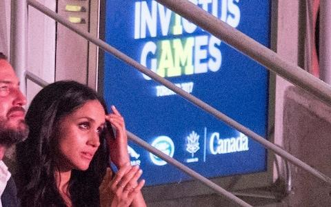 <span>Meghan Markle attends the Invictus Games Opening Ceremonies in Toronto </span> <span>Credit: Frank Gunn/AP </span>
