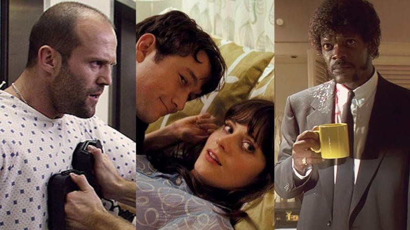 'Crank', '(500) Days of Summer' and 'Pulp Fiction'. (Credit: Lionsgate/Fox Searchlight/Miramax)