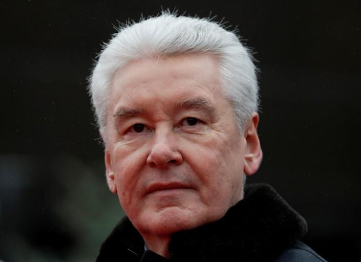 FILE PHOTO: Mayor of Moscow Sobyanin attends a military parade to mark the anniversary of a historical parade in Moscow