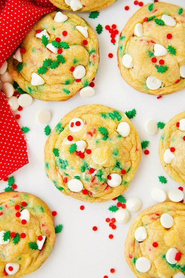 """<p>This blogger recommends to slightly under-bake her recipe for a """"super chewy and soft interior.""""</p><p><strong>Get the recipe at <a href=""""https://www.chelseasmessyapron.com/soft-baked-cake-batter-cookies-video/"""" rel=""""nofollow noopener"""" target=""""_blank"""" data-ylk=""""slk:Chelsea's Messy Apron"""" class=""""link rapid-noclick-resp"""">Chelsea's Messy Apron</a>.</strong></p>"""