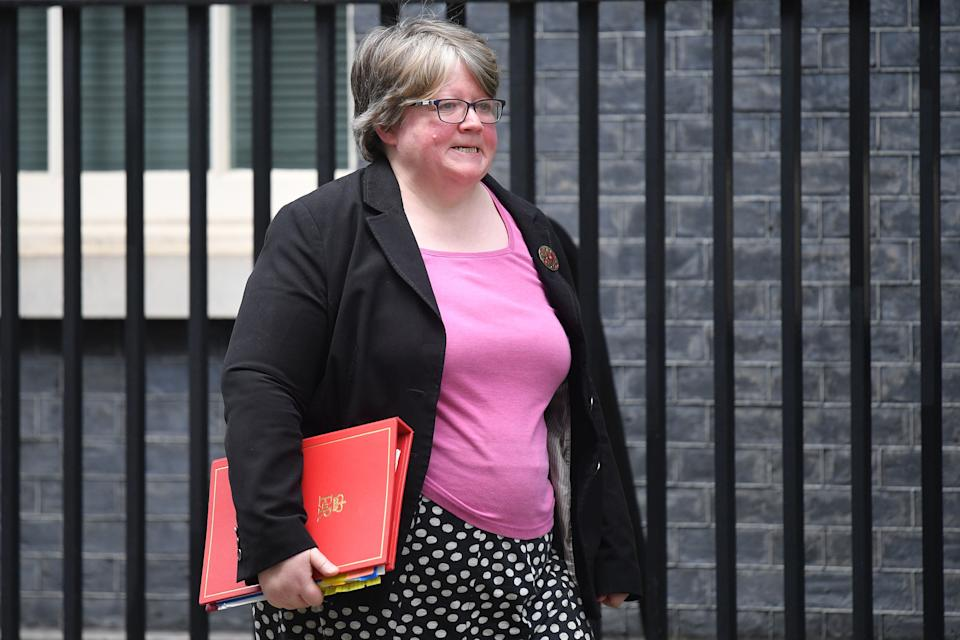 Therese Coffey is work and pensions secretaryAFP via Getty Images