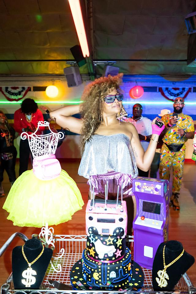 Taraji P. Henson skates into her 49thyear with an '80s-themed party at a roller rink in Chicago, followed by a brunch at Katana hosted by Guillotine Vodka.