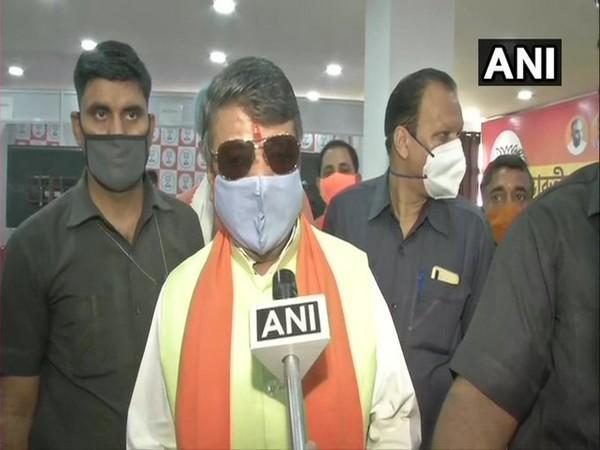 BJP National General Secretary Kailash Vijayvargiya speaking to ANI in Kolkata on Sunday. [Photo/ANI]