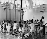 <p>From dodgeball to relay races, gym class was full of inventive activities. In the '70s, trampolining was a way for kids to reach physical fitness goals. </p>