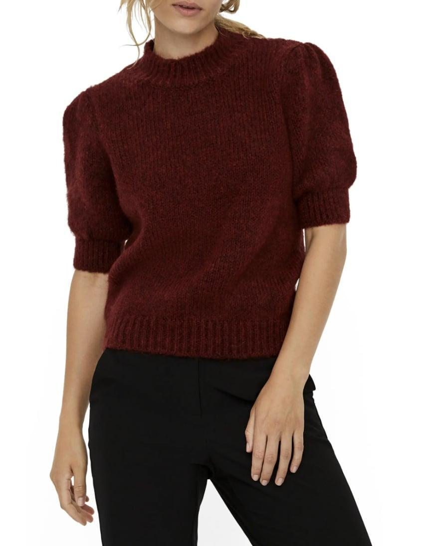 <p>Wear this <span>Vero Moda Puff Sleeve Sweater</span> ($39, originally $65) with burgundy leather pants for a refined monochrome look.</p>