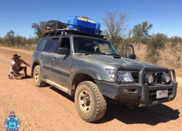 Benjamin Kress and Nathalie Eich (Kress) were travelling in a silver 2002 Nissan Patrol in the Kimberly region. Source: WA Police
