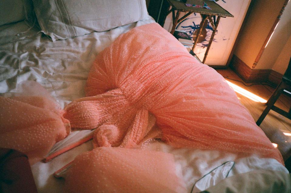A blush pink fairy-tale gown from Zac Posen's SS19 collection, shot by Gia Coppola. (Photo: Courtesy of Zac Posen)
