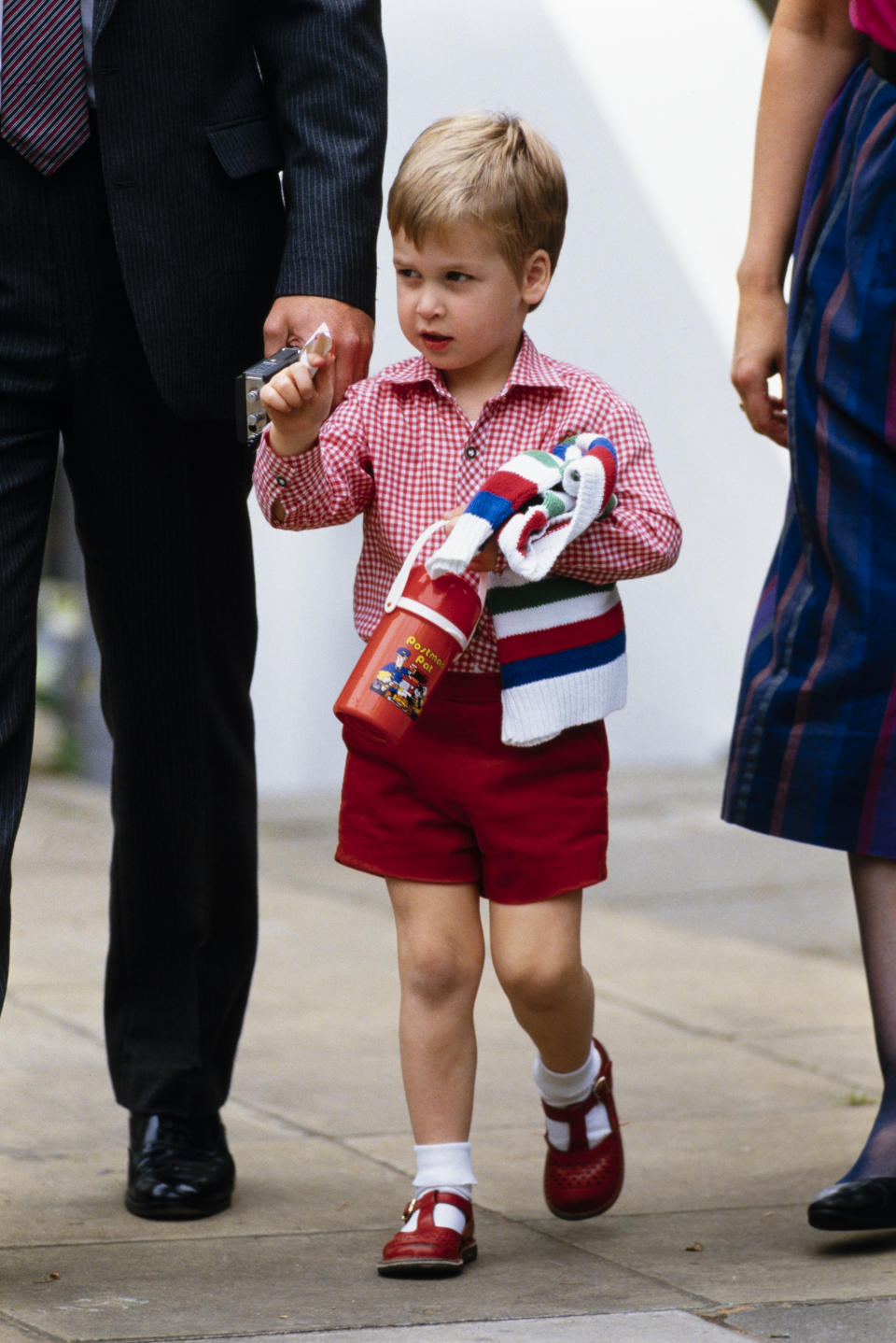 Levenson also photograpged Prince William on his first day at nursery school in 1985. (David Levenson/Getty Images)