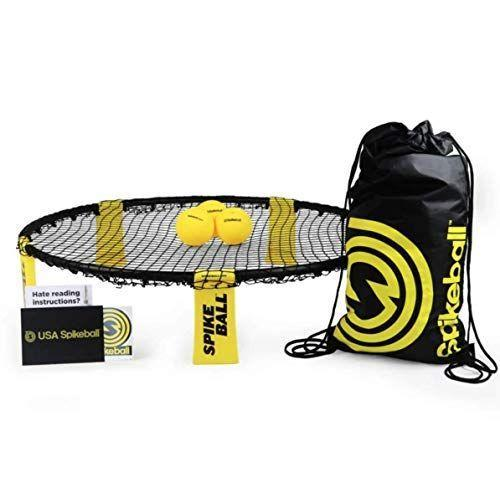"""<p><strong>Spikeball</strong></p><p>amazon.com</p><p><strong>$59.00</strong></p><p><a href=""""https://www.amazon.com/dp/B002V7A7MQ?tag=syn-yahoo-20&ascsubtag=%5Bartid%7C10050.g.21095894%5Bsrc%7Cyahoo-us"""" rel=""""nofollow noopener"""" target=""""_blank"""" data-ylk=""""slk:Shop Now"""" class=""""link rapid-noclick-resp"""">Shop Now</a></p><p>This fun, high-energy game works just as well on the beach as at a tailgate. Players team up to serve the ball against the net and hit it back to a partner.</p>"""
