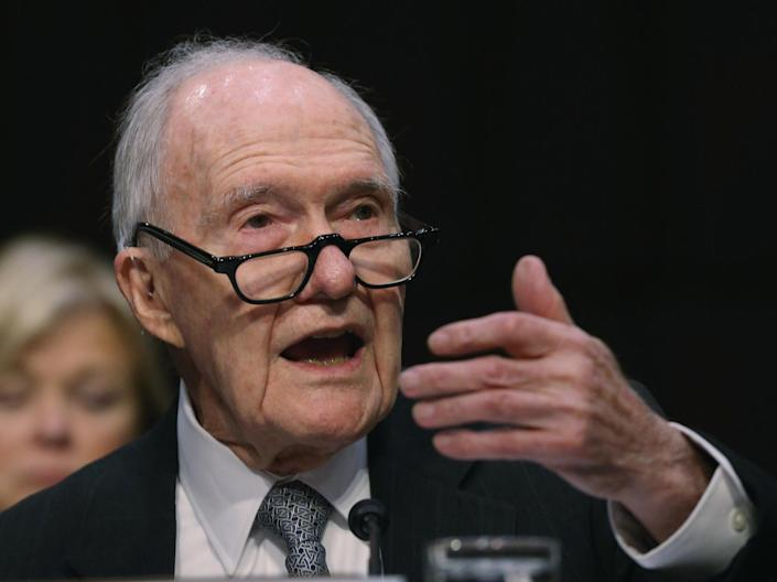 Former National Security Advisor Brent Scowcroft testifies during a Senate Armed Services Committee hearing on Capitol Hill, 21 January, 2015: Mark Wilson/Getty Images