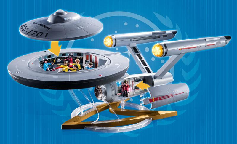Playmobil's model of the U.S.S. Enterprise from Star Trek comes with a removable roof (Photo: Playmobil)