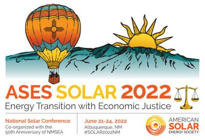The American Solar Energy Society (ASES) and the New Mexico Solar Energy Association (NMSEA) invite you to join us in Albuquerque, NM June 21-24, 2022 for the 51st Annual National Solar Conference. You can also submit a proposal to present at the conference up until November 15, 2021. Learn more at ases.org/conference.