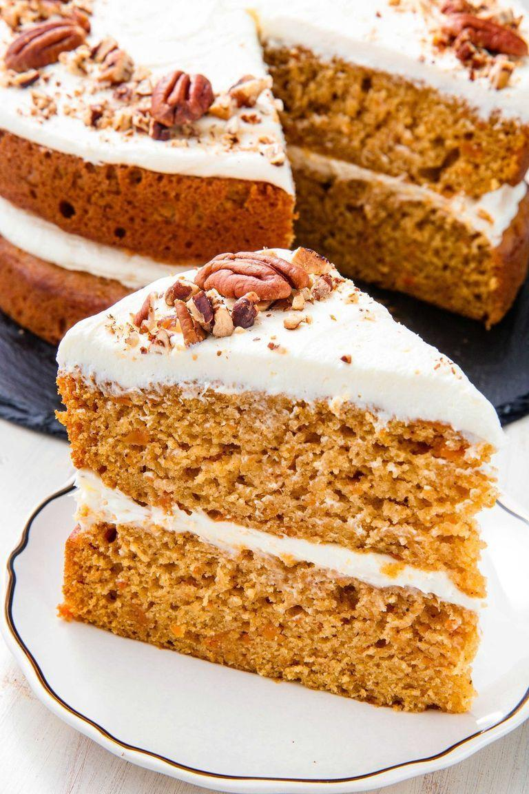 "<p>Sweet potato casserole lovers (with the mini marshmallow topping, obv) will love the fluff-infused frosting on this irresistible sweet potato cake.</p><p><em><a href=""https://www.delish.com/holiday-recipes/thanksgiving/a23011942/best-sweet-potato-cake-recipe/"" rel=""nofollow noopener"" target=""_blank"" data-ylk=""slk:Get the recipe from Delish »"" class=""link rapid-noclick-resp"">Get the recipe from Delish »</a></em></p>"