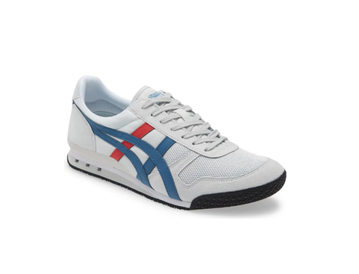 """<p><strong>ONITSUKA TIGER</strong></p><p>nordstrom.com</p><p><a href=""""https://go.redirectingat.com?id=74968X1596630&url=https%3A%2F%2Fwww.nordstrom.com%2Fs%2Fonitsuka-tiger-ultimate-81-sneaker-men%2F4932448&sref=https%3A%2F%2Fwww.bestproducts.com%2Ffitness%2Fg37158206%2Fnordstroms-anniversary-sale-best-sneakers%2F"""" rel=""""nofollow noopener"""" target=""""_blank"""" data-ylk=""""slk:BUY IT HERE"""" class=""""link rapid-noclick-resp"""">BUY IT HERE</a></p><p><del>$80<br></del><strong>$52.90</strong></p><p>Anyone who is looking for a post-workout pair will find a lot to love about this option from Onitsuka Tiger, complete with suede uppers and subtle pops of color. Talk about curb appeal!</p>"""