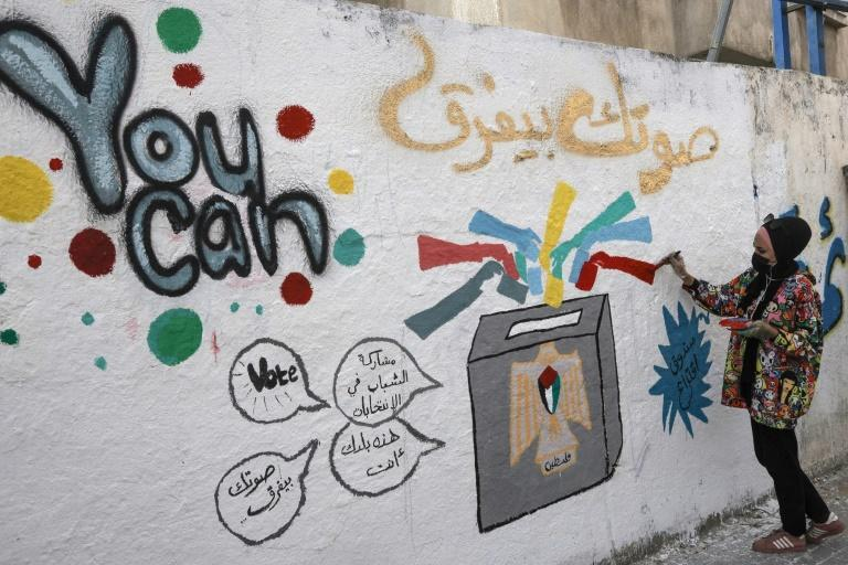 Murals have gone up on walls across the Palestinian territories urging people to vote in a general election called for next month, but doubts persist over whether it will go ahead after repeated false starts over the past decade