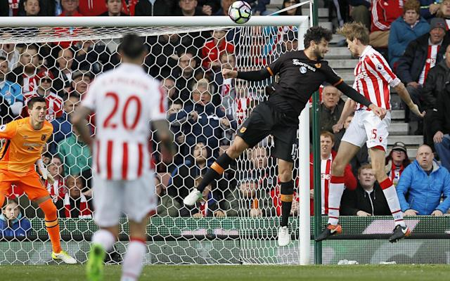 <span>Crouch came off the bench to score with a back-post header</span> <span>Credit: PPAUK/REX/Shutterstock </span>