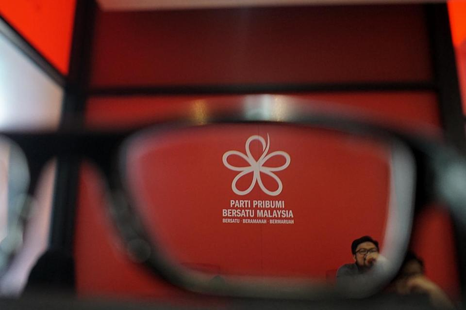 The logo of Parti Pribumi Bersatu Malaysia is seen in this file picture taken December 27, 2018. Bersatu Youth wing leader Adam Asmuni is facing a possible death sentence after he was charged under Section 39(B) of the Dangerous Drugs Act 1952 last Friday. — Picture by Ahmad Zamzahuri