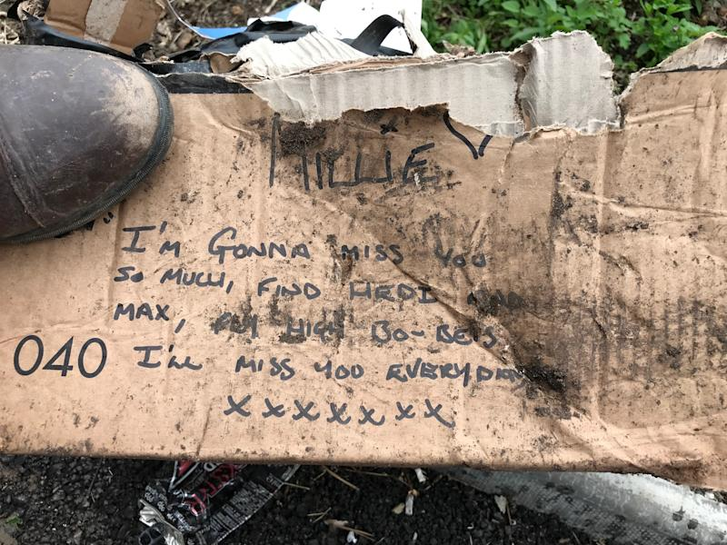 Andew Beech buried Millie alongside a note. (SWNS)