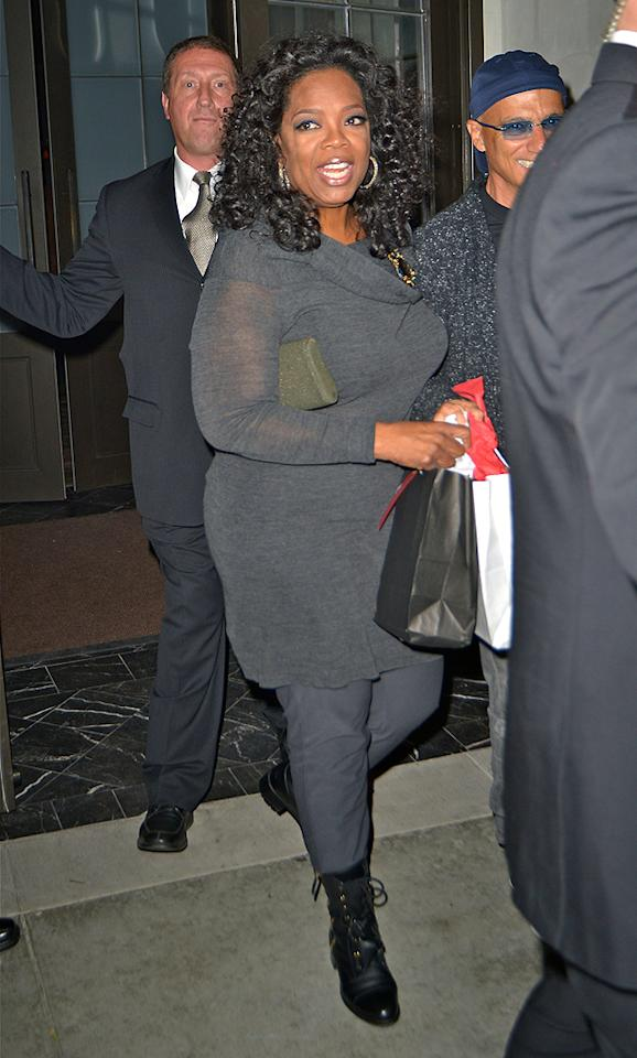 Oprah Winfrey attends a party for music mogol David Geffen at Spago Beverly Hills.
