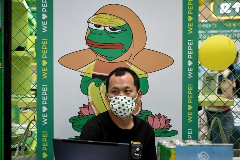 """An early Sang icon was Pepe the Frog, called """"sad frog"""" in China, whose memes conveyed their disillusionment"""