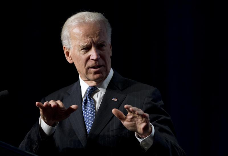 Vice President Joe Biden gestures as he addresses at the U.S. Conference of Mayors 81st winter meeting in Washington, Thursday, Jan. 17, 2013. (AP Photo/Manuel Balce Ceneta)