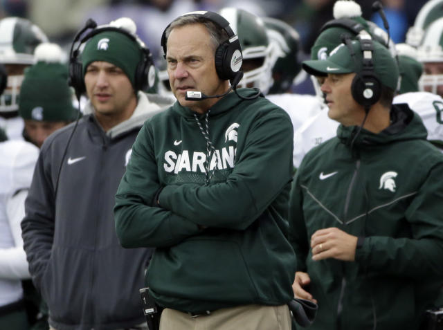 Mark Dantonio and Michigan State have a prime opportunity to cause chaos against Penn State on Saturday. (AP)