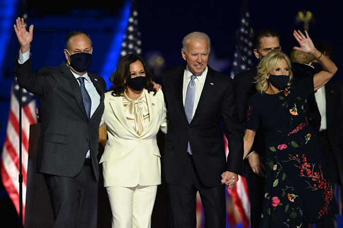 joe biden kamala harris spouses