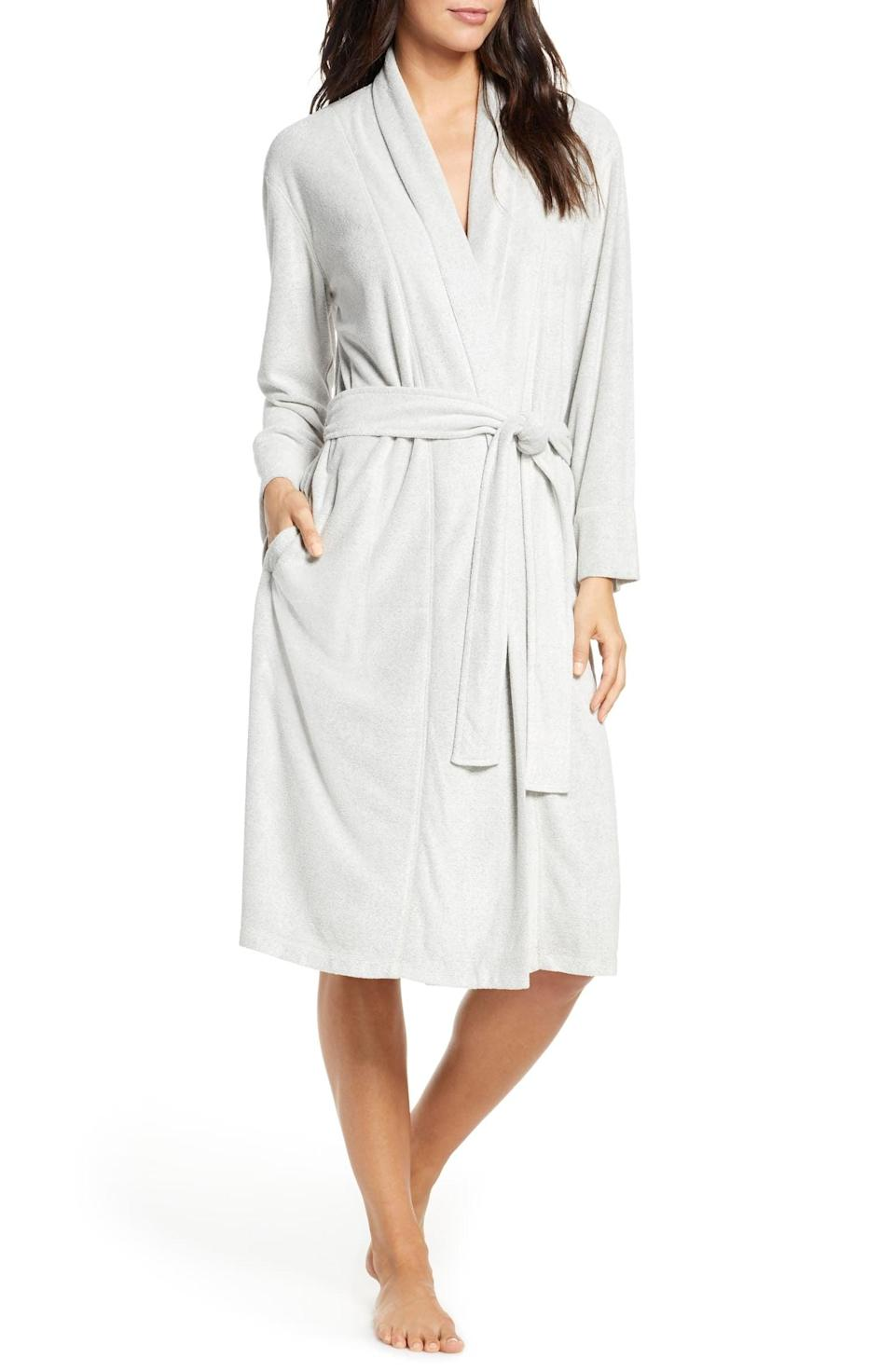 <p>This <span>Natori Sierra Brushed Terry Robe</span> ($78) comes in so many cute pastel shades.</p>
